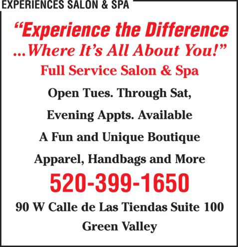 Experiences Salon Spa